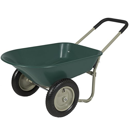 Best Choice Products Dual-Wheel Home Wheelbarrow