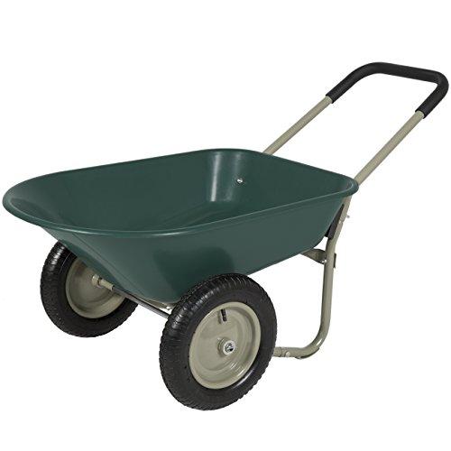 Best Choice Products Dual-Wheel Home Wheelbarrow