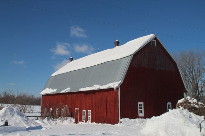 Warm Barn in Winter